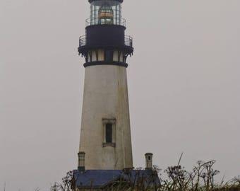 Lighthouse Photography, Yaquina Head Lighthouse, Oregon Lighthouse, Digital Download, Printable Wall Art, Wall Decor, Home Decor, Ocean Art