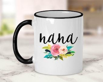 Nana Flowers Mug // Grandma Gift // Nana Gift // Grandparent