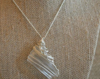 Genuine Hand Picked Hand Made Sea Glass Necklace