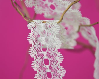 Knitting In Lace 30mm wide All Cream