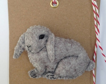 FELT BROOCH Rabbit