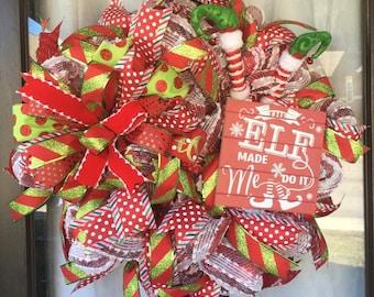 Deluxe Christmas Elf Wreath