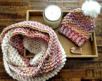 Crochet pattern; Infinity scarf pattern; Infinity scarf; Crochet scarf pattern; Cowl pattern; Crochet cowl pattern; Scarf pattern; Pattern