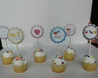Valentine's Day Cupcake Toppers/ Naughty Valentine's Day Cupcake Toppers/ Valentine Day Cupcakes