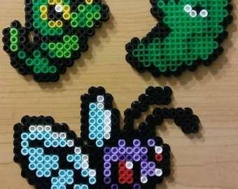 Butterfree Evolution Chain Perler Bead Magnets