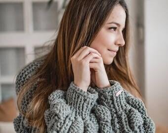 womens handknit sweater/handknit cardigan/chunky sweater/ fluffy cardigan/ handmade sweater
