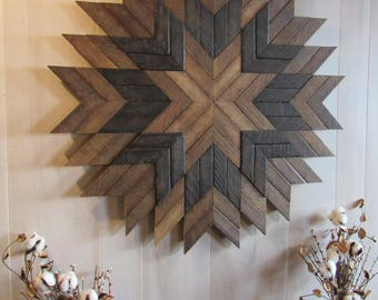 Reclaimed Wood Wall Art  Barn Quilt  Farmhouse Decor  Rustic Wall Decor   Wood