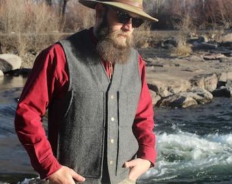 Vintage Pendleton 100% Virgin Wool Men's Vest - Size Medium