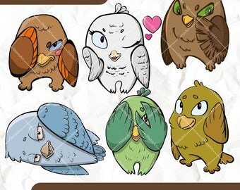Owls - clipart set