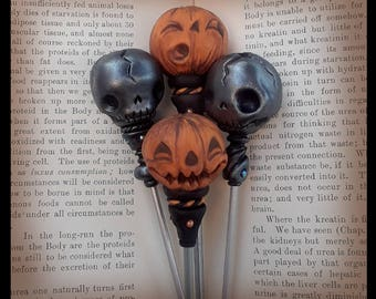 Hair Accessories for Her Gifts under 30 Gothic Jewelry Halloween Jewelry Hair Jewelry Hair Pin Hair Stick Pumpkin Jewelry Vegan Gift for Her