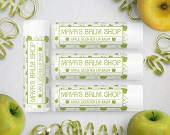 Lip Balm Labels - Lip Gloss Labels - Printable Lip Balm Labels - Label Design - Product Labels - Apple Lip Balm Label 4