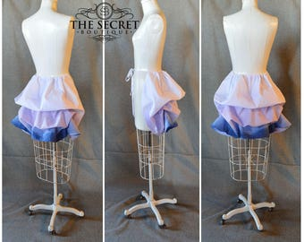 ready to ship bustle-unicorn cosplay-purple and blue ombre-bustle-masquerade-halloween-corset skirt-tie on bustle-the secret boutique-bustle