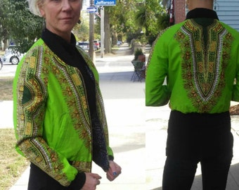 Dashiki Reversible Unisex Bomber Jacket