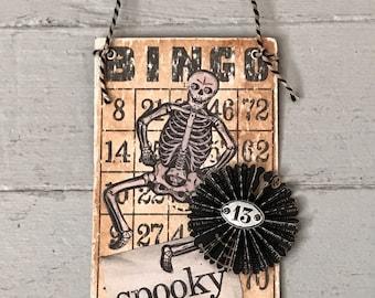Vintage Halloween Bingo Card
