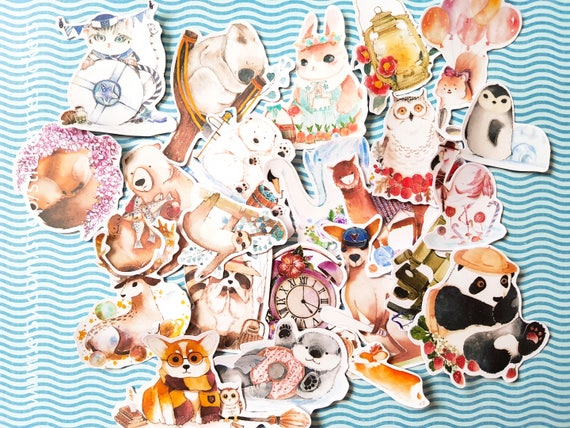 Animal sticker panda sticker otter sticker sloth sticker kangaroo sticker rabbit sticker cat sticker penguin sticker fk25 from stickermestickers on