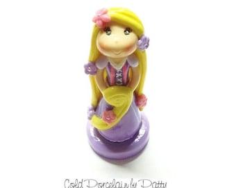On Sale Cold Porcelain Clay Princess Rapunzel Cake Topper, Rapunzel Figurine, Princess Birthday Clay Cake Topper, Rapunzel Keepsake, Gift