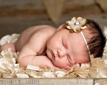 gold baby headband