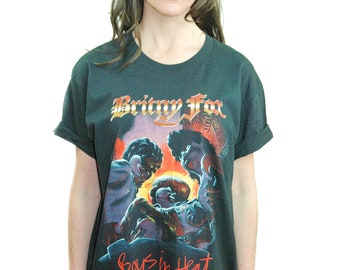 Vintage Britny Fox shirt 1990 Boys in Heat Guns n Roses shirt Glam Rock shirt Hair Metal shirt L