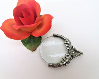 Vintage Magnifying Glass | Magnifier Loop | Magnifying Glass Pendant | Reading Glass