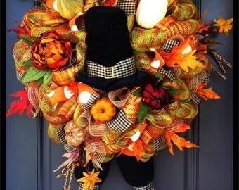 Lavish Pilgrim Thanksgiving Wreath