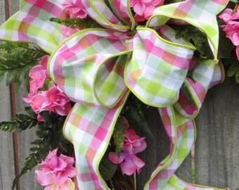 Wreath bow, Bow for Wreath, Spring Summer Bow
