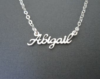 Personalized Mini Sterling Silver Name Necklace