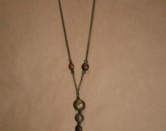 Long Metal Bead Pendent