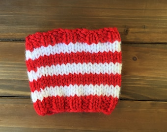 Candy Cane Stripe Cup Cozy