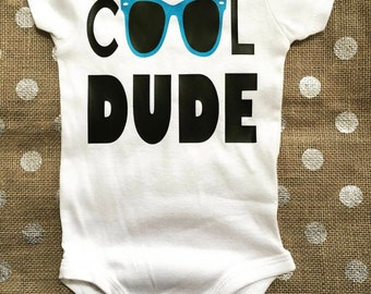Cool Dude Bodysuit / Cool Dude Sunglasses Shirt / Baby Outfit / Baby Boy Outfit / Baby Boy Bodysuit / Cool Dude Shirt