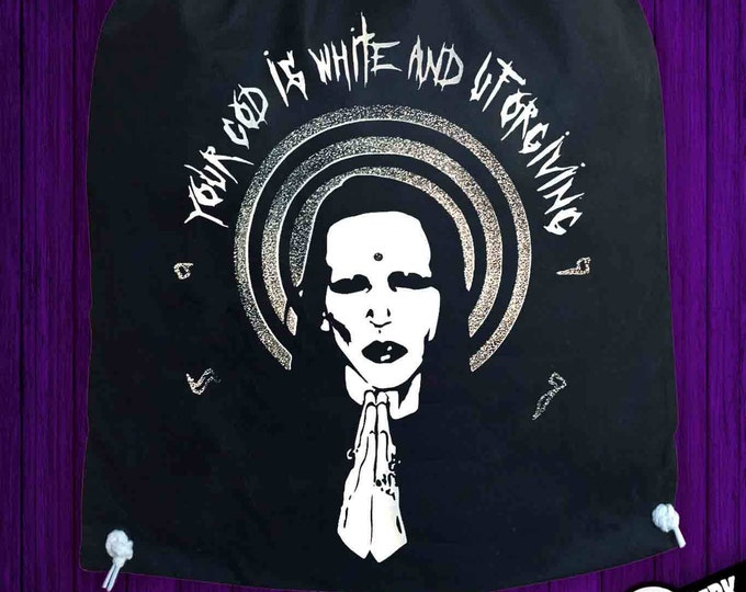 Drawstring Backpack Marilyn Manson
