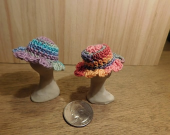 Miniature doll house hats, Victorian sun hats, women's hats,