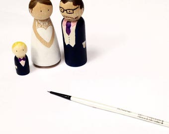 Personalised peg doll family- unique wedding cake toppers or a quirky gift