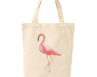 Pink Flamingo Canvas Tote Bag | Gifts for Aunts | Gifts for Sisters | Gifts for Moms