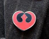 Rebel Heart enamel pin - Star Wars, PRIORITY AVAILABLE rebels Leia