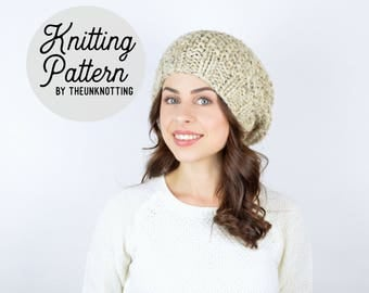 PATTERN // The Barrow Hat // Chunky Knit Beanie Pattern