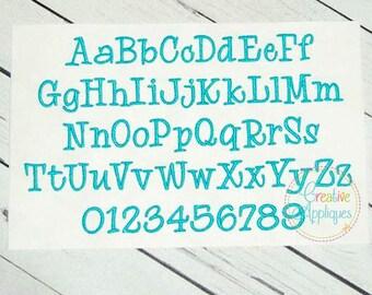 8 SIZES!!! Recess Embroidery Font, Alphabet Font Digital Machine Embroidery Design embroidery font, embroidery alphabet  font