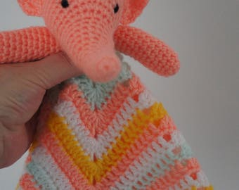 Cute crocheted star shaped elephant lovey/security blanket by Liz