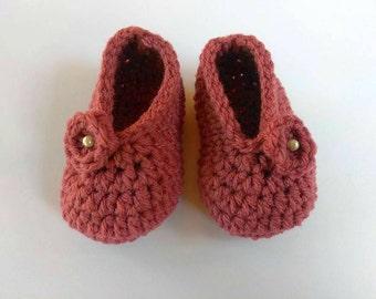 Infant Girl Shoes, Crochet Slippers, Baby Ballerina Shoes, Baby Ballet Slippers, Handmade Baby Shoes, Newborn Booties, Baby Booties Crochet
