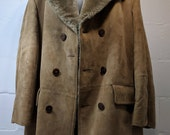 Men's Vintage Style Coats and Jackets vintage mens lakeland size 46 jacket coat mod MCM rare fur leather 60s 70s $175.00 AT vintagedancer.com