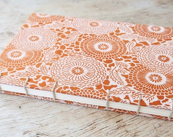 Nepal Coptic Notebook Hardcover Hand Bound Coptic Journal Travel Journal Blank Journal 160 Lined Cream Pages