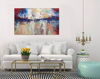 Abstract Painting Large Abstract Art Original Painting On Canvas/ Acrylic Painting Wall Art Canvas Living Room Dining Room Art, Christovart