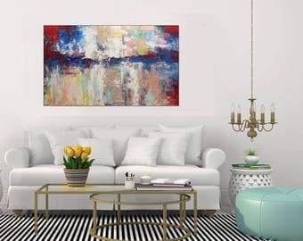 Abstract Painting Large Abstract Art Original Painting On Canvas/ Acrylic  Painting Wall Art Canvas Living