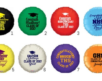 """Design Your Own 20""""Personalized Round Graduation Mylar/Foil Balloons!!"""