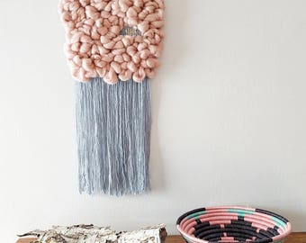 Pink & Blue Cloud weaving