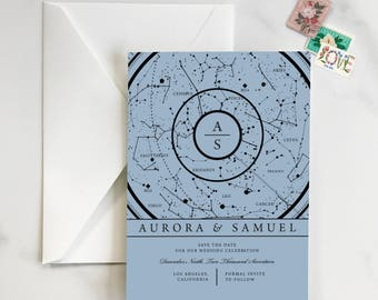 Constellation Save the Date, Over the Moon Save the Date, Astronomy Save the Date, Starry Night Save the Date, Constellation Invite- DEPOSIT