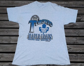 1992 Toronto Maple Leafs vintage t-shirt grey Made in Canada by Trench XL