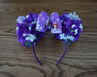 Sophia the First Inspired Flower Minnie Mouse Ears