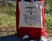 Christmas Tote Bag/Gift Idea/Book Bag/Scripture/Isaiah 9:6