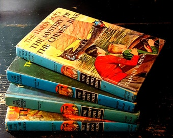 HARDY BOYS books - 1960's books - set of four - children's chapter books - mystery books - Franklin W. Dixon hardcover - #21 #32 #35 #39