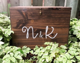 Custom Wedding Card Box   Wood Card Box   Rustic Wedding Decor   Rustic   Card Box with Hook